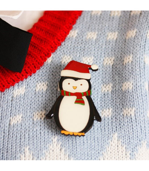 Christmas Penguin Brooch