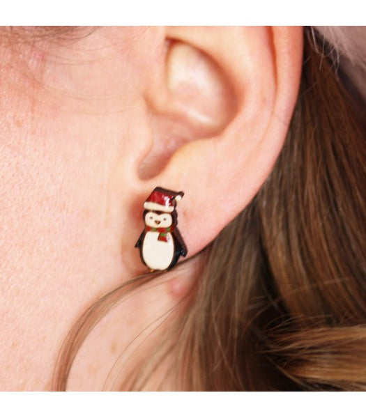 Christmas Penguin Earrings