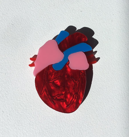 Be Still My Beating Heart Brooch