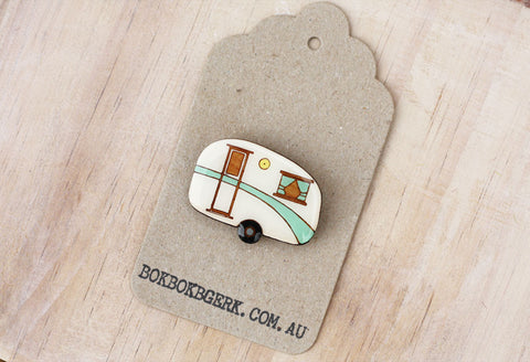Caravan Brooch - Green