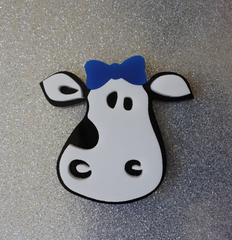 Bluebell the Cow Brooch
