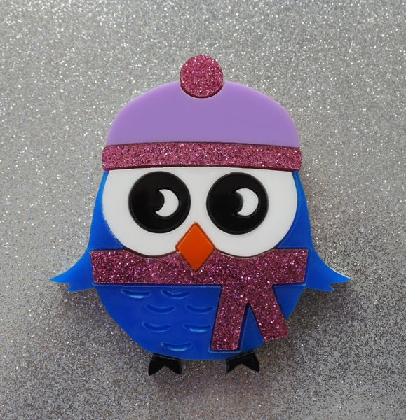 Whitney the Winter Owl Brooch