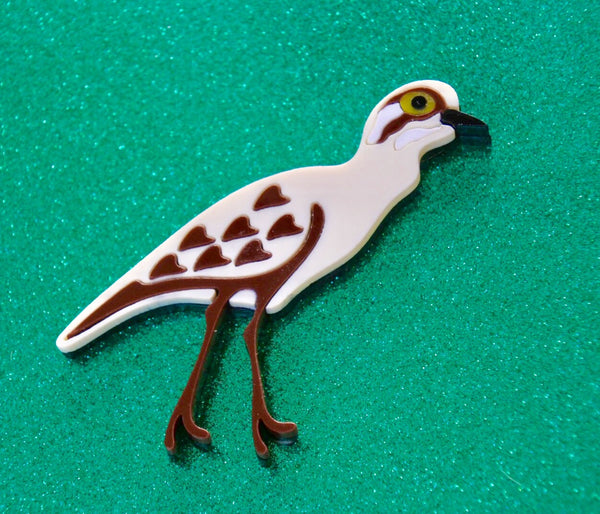 Connor the Curlew Brooch