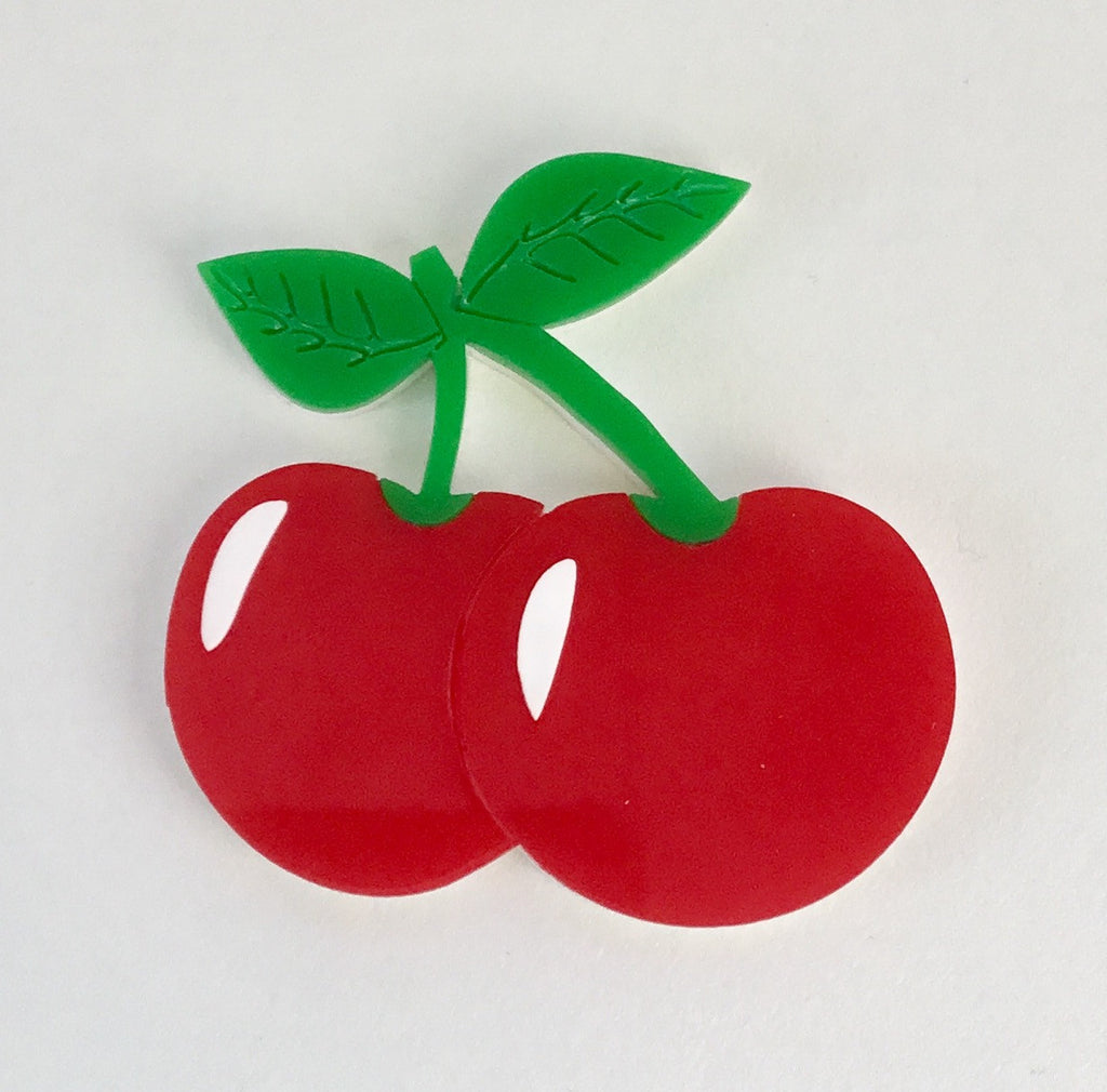 Chaste Cherries Brooch