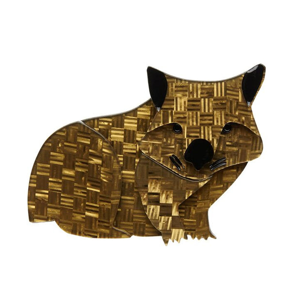 Wary Warri Wombat Brooch