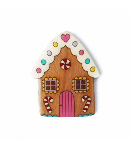 Christmas Gingerbread House Brooch