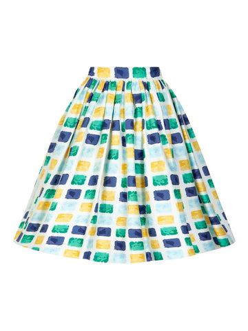 Jasmine Paint Pot Print Skirt