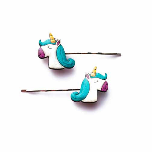 Unicorns & Rainbows - Unicorn Hairclips