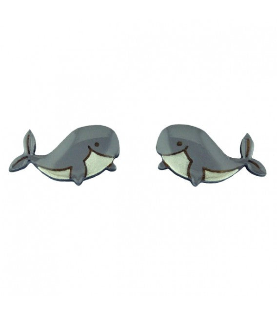 Under the Sea - Whale Earrings