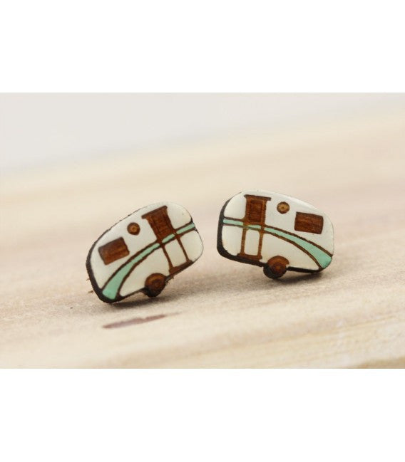 Caravan Earrings - Green