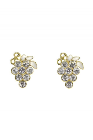 Diamante Grape Studs