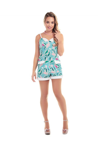 Futura Mermaid Print Playsuit