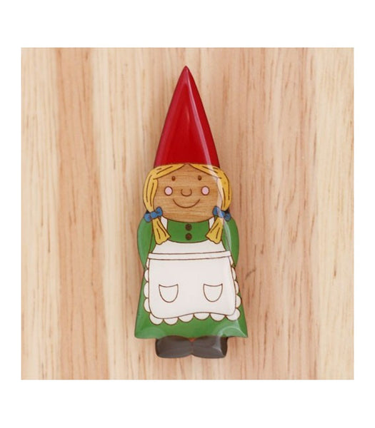 Woodland Garden - Gnome Lady Brooch