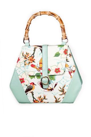 Butterfly and Flowers Handbag