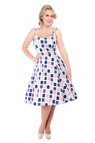 Janie Paint Pot Print Swing Dress