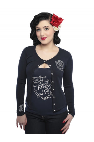 Jo Ahoy Anchor Cardigan