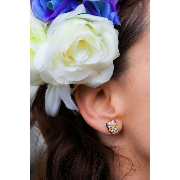 Mexican Fiesta Sugar Skull Earings