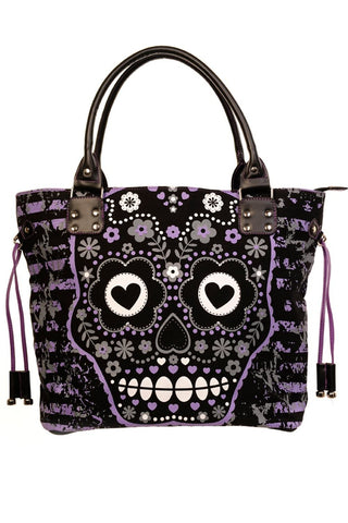 Purple Sugar Skull Bag
