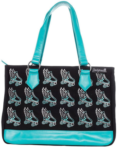 Flying Skate Tote - Turquoise