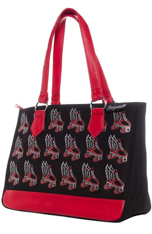 Flying Skate Tote - Red