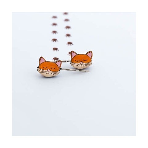 Theodore & Friends - Theodore The Cat Hairclips