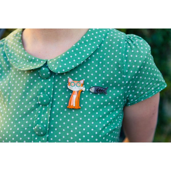 Theodore & Friends - Theodore the Cat Brooch