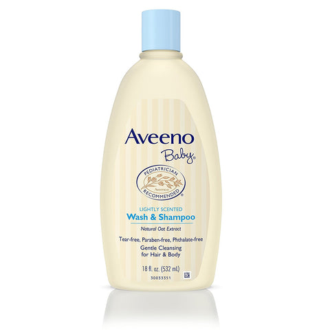 Aveeno Baby Wash & Shampoo (532 ml) K0250