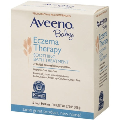 Aveeno Baby Eczema Therapy Soothing Bath Treatment, Single Use Packets 5 ea K0256