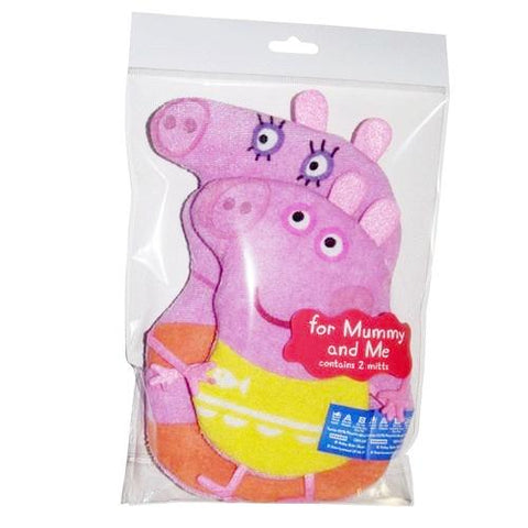 Peppa Mummy & Me Bath Wash Mitts K0315