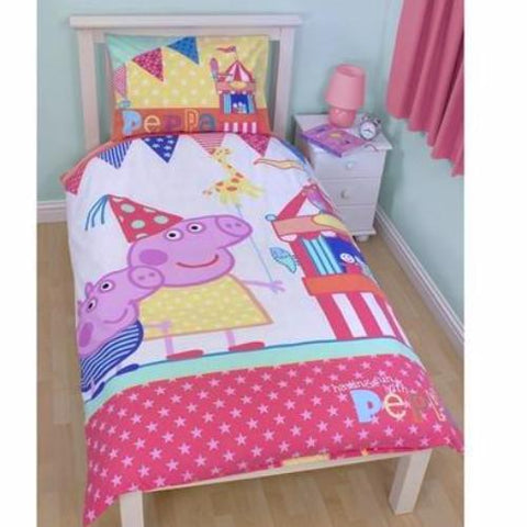 Peppa Funfair Single Duvet Set K0363