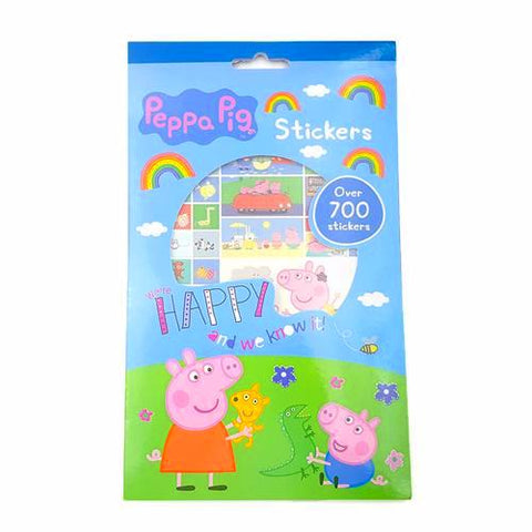 Peppa Pig 700 Stickers 5 Sets K0512A