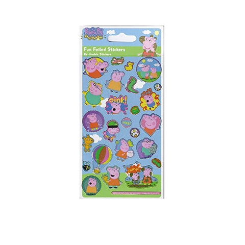 Peppa Pig Regular Foil Stickers - Balloon K0694