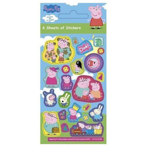 Peppa Pig Party Pack Stickers (6 Sheets) K0696