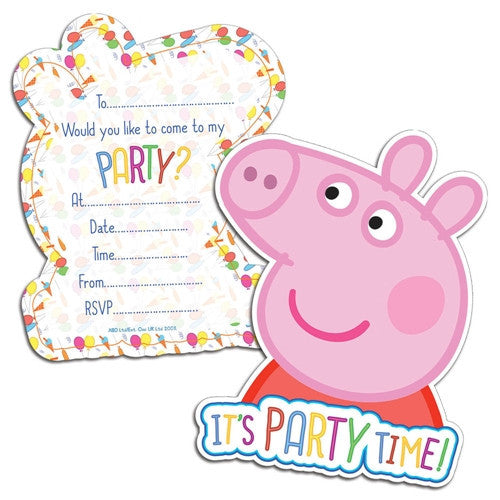 Peppa Pig Invite Cards with envelopes (6pk) K0768
