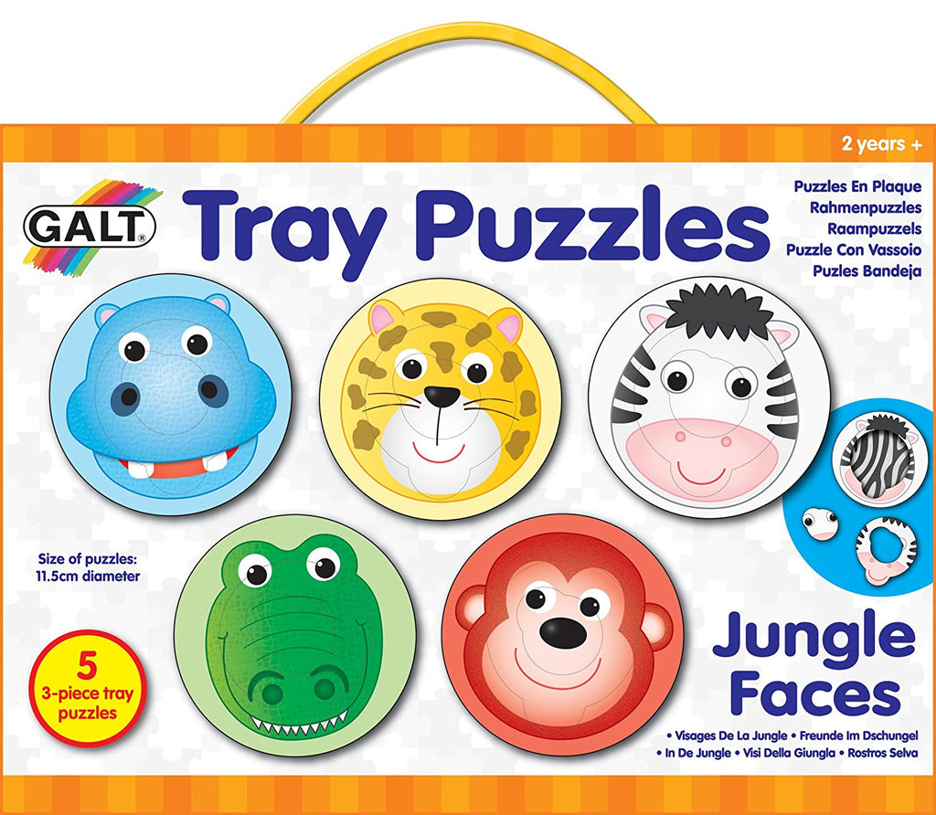 GALT Tray Puzzle Jungle Faces 1004636 (K1364)