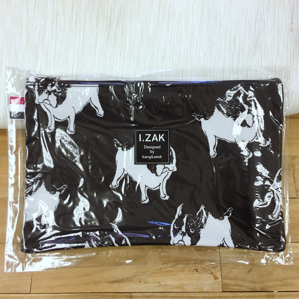 Korea I.ZAK Large Pouch (Black) Dog S1417