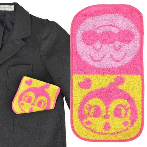 Anpanman Kid 10 x 20 cm Towel (pink-yellow) J50423