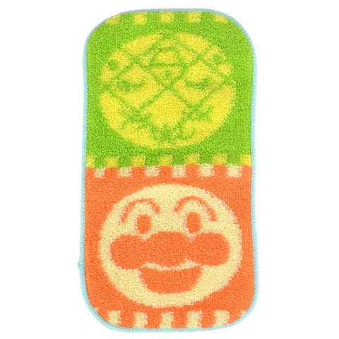 Anpanman Kid 10 x 20 cm Towel (green-orange) J50424