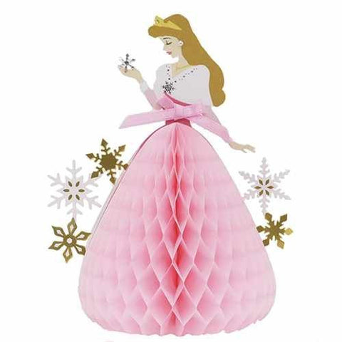 Disney Princess Honeycomb Card (Snow Crystal) - Aurora J50449, Christmas Card