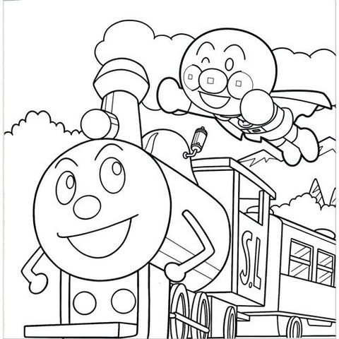 Anpanman Coloring Square Book (Jumbo) J50458