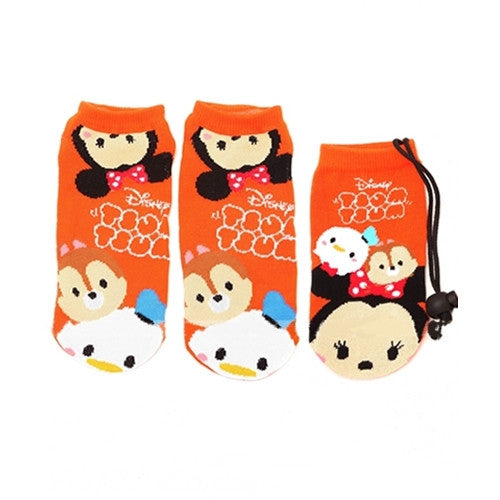 Tsum Tsum Socks with Bag 23-25cm (Orange) J50473