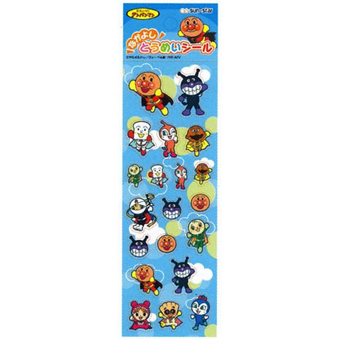 Anpanman Transparent Sticker Blue (made in Japan) J50595