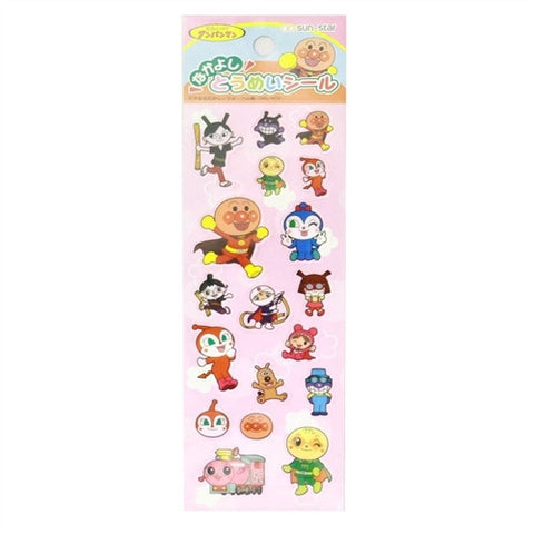 Anpanman Transparent Sticker Pink (Made in Japan) J50596