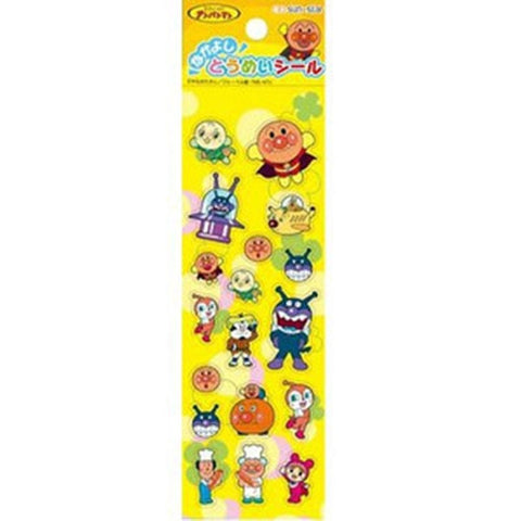 Anpanman Transparent Sticker Yellow (made in Japan) J50597