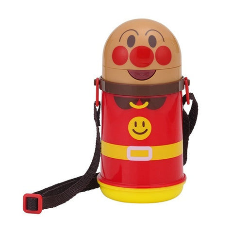Anpanman Water Bottle with Straw (400ml) -Thermo Cold / Die-Cut J50813