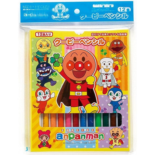 Anpanman Crayon Set (with Sharpener and Eraser) J50853
