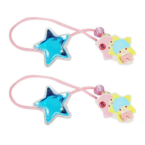 Little Twin Stars Hair Tie with Blue Stars J51183