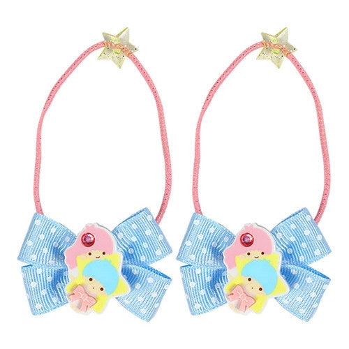 Little Twin Stars Hair Tie with Big Ribbon J51788