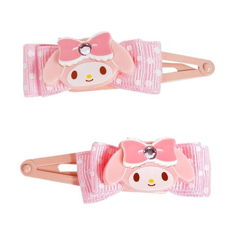 My Melody Hair Clips with Ribbon J51789