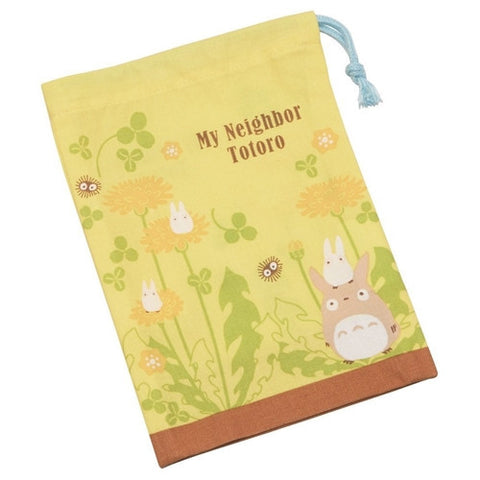 Totoro Yellow Flower Bag 14.8 x 20.5cm, Made in Japan J51861
